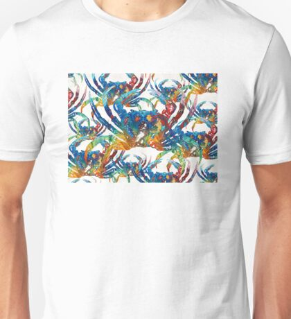 Colorful Crab Collage Art by Sharon Cummings Unisex T-Shirt