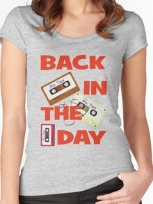 Back In The Day - Retro Cassette Mixtape Women's Fitted Scoop T-Shirt