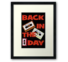 Back In The Day - Retro Cassette Mixtape Framed Print