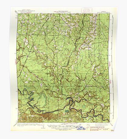 USGS TOPO Map Arkansas AR Moro Bay 260205 1938 62500 Poster