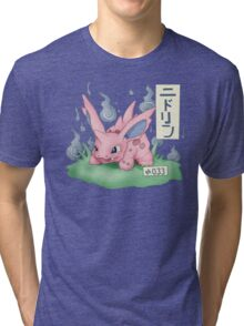 Nidorino Japanese Pokemon Tri-blend T-Shirt