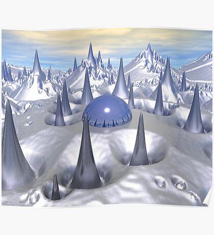 Science Fiction Landscape Poster