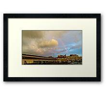Rainbow Over Sandusky 2 Framed Print