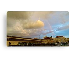 Rainbow Over Sandusky 2 Canvas Print