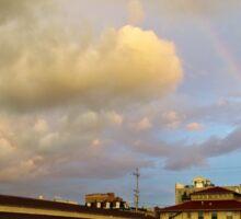 Rainbow Over Sandusky 2 Sticker
