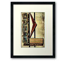 Vintage Arrow Motel Sign, Lompoc, CA Framed Print