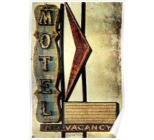 Vintage Arrow Motel Sign, Lompoc, CA Poster