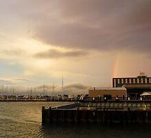Rainbow Over Sandusky  by Shawna Rowe