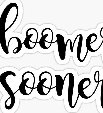 boomer sooner Sticker