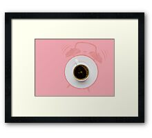 Alarm coffee. Framed Print