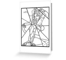 Pinup Medusa - Pop Line Art Greeting Card