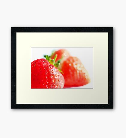 Scrumptious Red Strawberries Framed Print