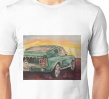Bullitt green pony classic hotrod muscle car Unisex T-Shirt