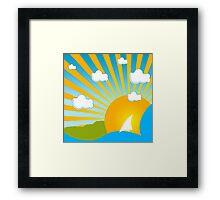 Funky Summer Framed Print