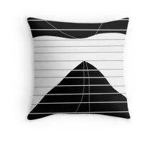 White and black abstract art Throw Pillow