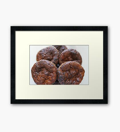 chocolate cupcake macro shot Framed Print