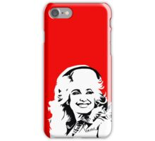 dolly parton black and white iPhone Case/Skin