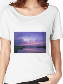 Twilight Time on Lake Women's Relaxed Fit T-Shirt