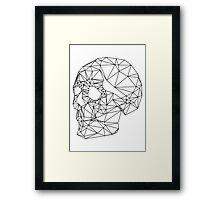Wire Skull Framed Print