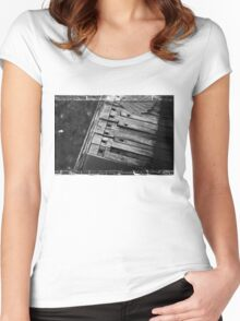 Autumn Piano Keys Women's Fitted Scoop T-Shirt