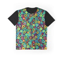 Colorful Abstract Circles Pattern Graphic T-Shirt