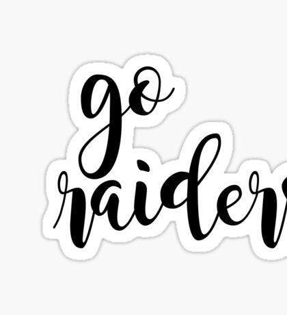 go raiders Sticker