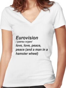 Eurovision Defenition Women's Fitted V-Neck T-Shirt