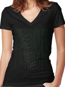 Linux kernel code Women's Fitted V-Neck T-Shirt
