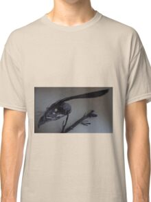 Last dead bird skull burning with a black flame feather Classic T-Shirt