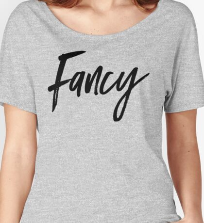 FANCY HOT PINK LETTERING TEE | TRENDY MINIMAL QUOTE PRINT Women's Relaxed Fit T-Shirt