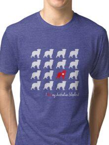 I love my Australian Shepherd - breed dog Tri-blend T-Shirt