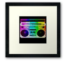 Mosaic Big Thump Boombox Framed Print