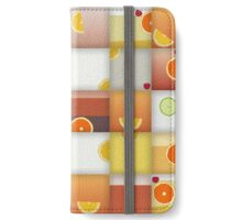 cocktail squares iPhone Wallet/Case/Skin