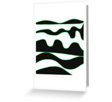 Black, white and green Greeting Card