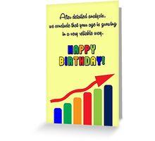 Happy Birthday - Graph Greeting Card