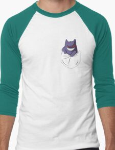Pocket ghost Men's Baseball ¾ T-Shirt
