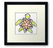 Watercolor Turtle Framed Print