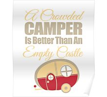 An Empty Castle Camping T-Shirt Poster