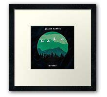 Calvin Harris - My Way art Framed Print