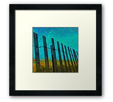 Barriers to the beach Framed Print