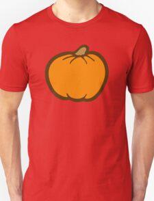 Pumpkin Pattern on Brown Unisex T-Shirt