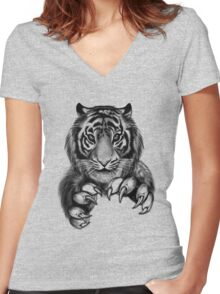 Tiger. Women's Fitted V-Neck T-Shirt