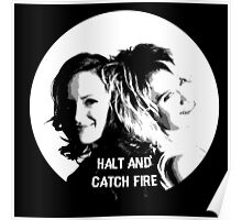 Donna & Cameron (Halt and Catch Fire) Poster