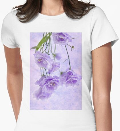 Campanella Blossoms Suspended - Macro Womens Fitted T-Shirt