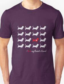 I love my Basset Hound - breed dog Unisex T-Shirt