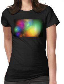 Helium Rainbow Womens Fitted T-Shirt