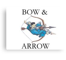 Jiu Jitsu Bow & Arrow Canvas Print