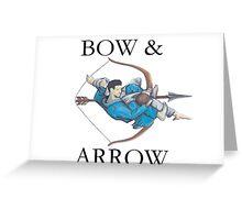 Jiu Jitsu Bow & Arrow Greeting Card