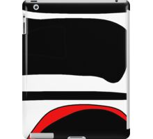 Red, white and black  iPad Case/Skin
