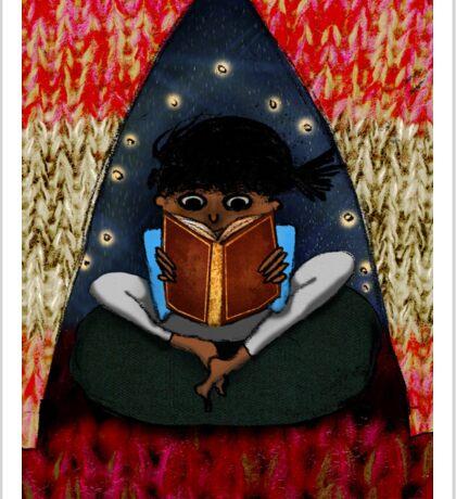 child reading Sticker